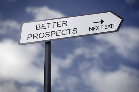 Street sign pointing to better prospects
