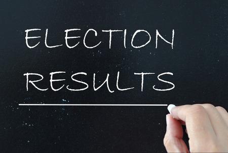 encuestando: Resultados electorales Foto de archivo