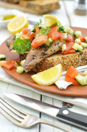 grilled fish: Smoked mackerel fish