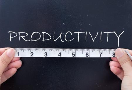 productividad: Medici�n de la productividad Foto de archivo