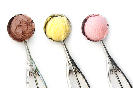 ice cream scoop: Ice cream  Stock Photo