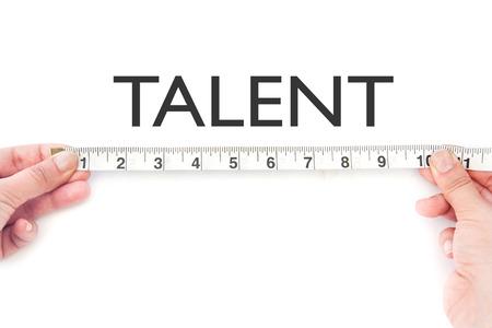 Measuring talent Banco de Imagens - 28142936