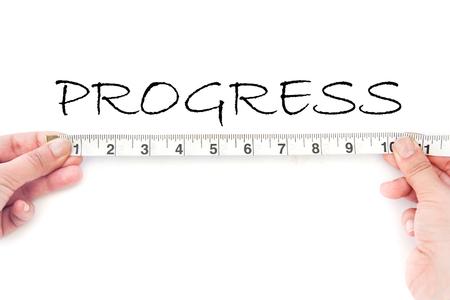 financial performance: Measuring progress  Stock Photo
