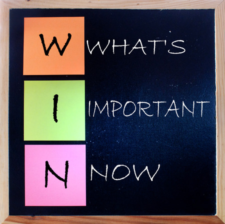 acronym: WIN  What s important now