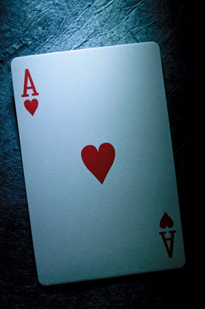 game of chance: Aceof hearts playing card