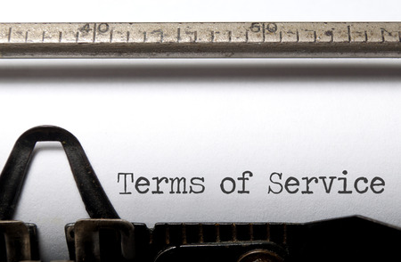 Terms of service text