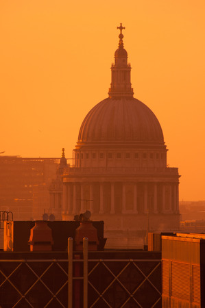 st pauls: Londons famous tourist landmark and place of worship St Pauls Cathedral at sunset