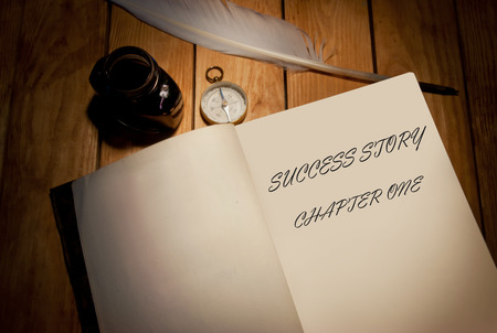 one story: Success story first page of a book