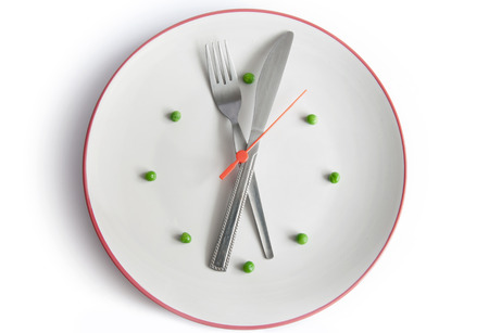 hour hand: Meal time Stock Photo