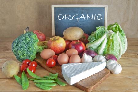 étel: Friss bio élelmiszereket Stock fotó
