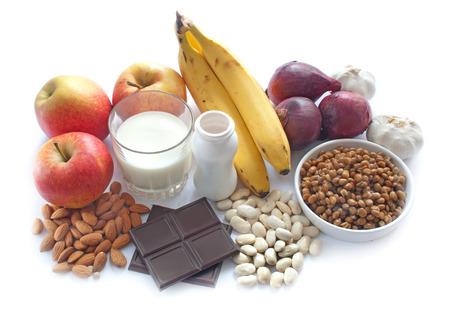 Probiotische (of prebiotische) rijk voedsel Stockfoto