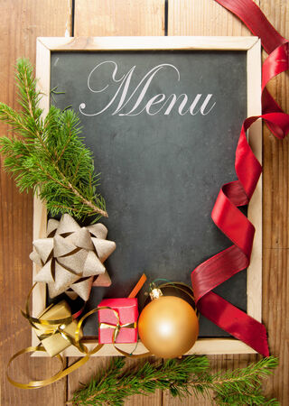 christmas menu: Christmas menu with decorations