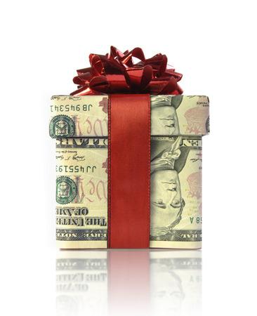 christmas profits: Money concept gift