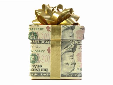 christmas profits: Money gift box