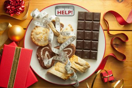 cioccolato natale: Anno nuovo concetto di dieta gennaio