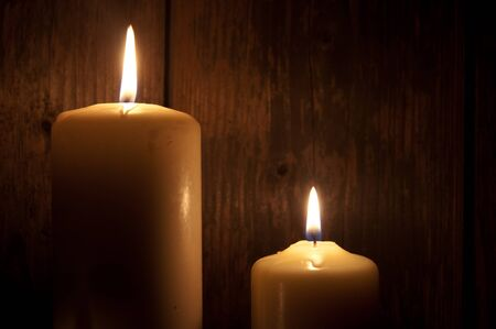 candles in dark: Candles Stock Photo