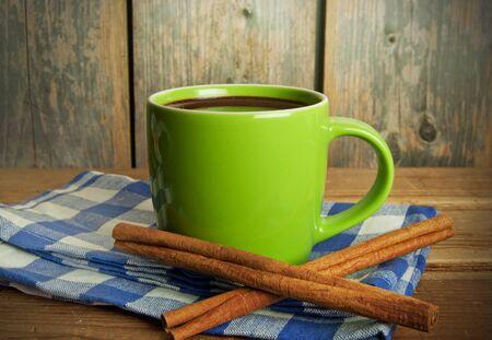 cinammon: Hot chocolate Stock Photo
