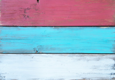 painted wood: Close up of painted boards of timber wood Stock Photo