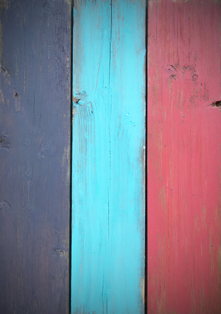 painted wood: Painted boards of timber wood
