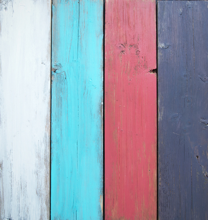 painted wood: Timber boards Stock Photo