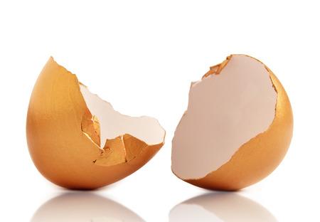 Tramado huevos de oro Foto de archivo