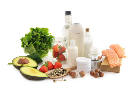 Healthy food for beautiful skin 스톡 콘텐츠