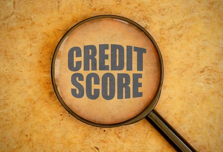 business credit application: Credit score Stock Photo
