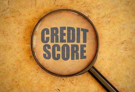 credit score: Credit score Stock Photo