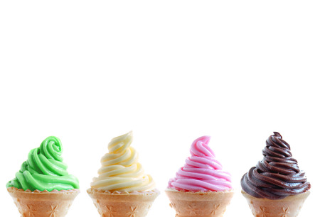 Row of ice cream cones photo