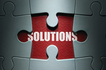 uncovering: Uncovering solutions Stock Photo