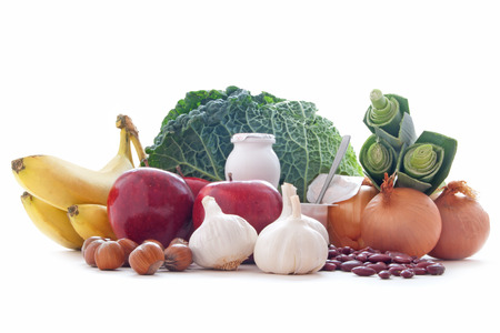 prebiotic: Probiotic or prebiotic rich foods including pulses nuts fruit and milk products good for immunity and the gut