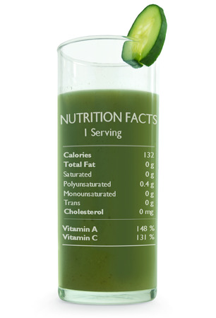 nutritional: Vegetable detox smoothie with nutritional information