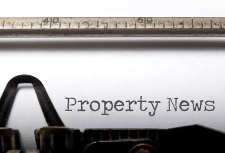 property: Property news printed on an old typewriter