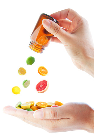 vitamin pill: Vitamin C