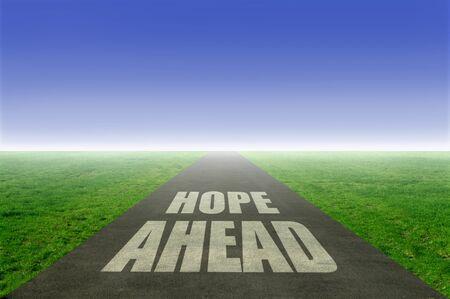 open road: Hope ahead open road