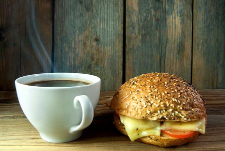 Deli: Hot coffee and and deli bread roll