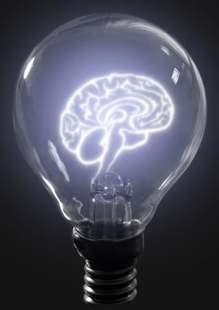 Žárovka mozek Reklamní fotografie