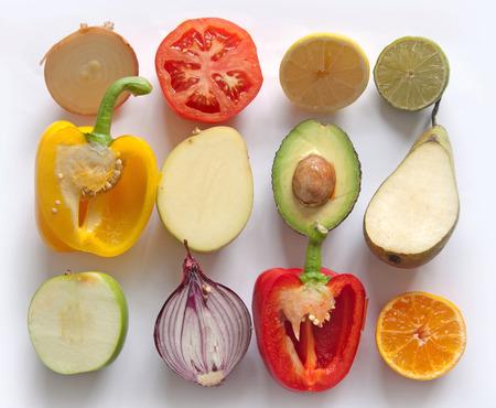frutas: Frutas y hortalizas  Foto de archivo