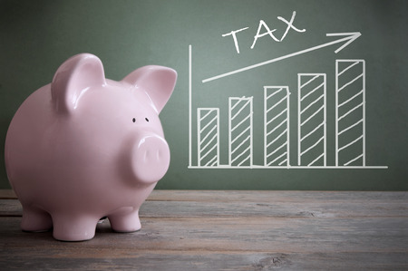 Tax rise Stock Photo