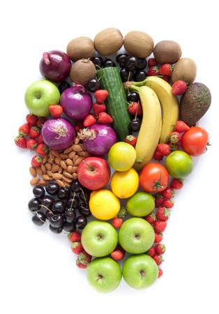 forme: Tête de la nourriture saine Banque d'images