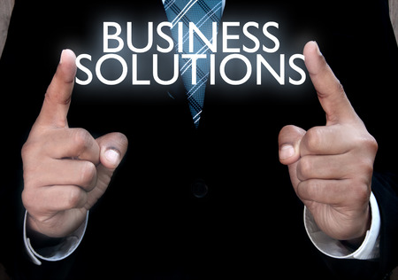 negocio: Soluciones de negocio  Foto de archivo