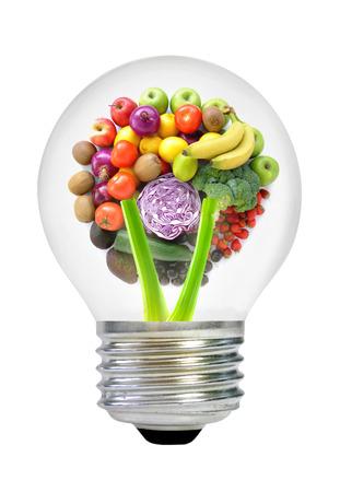 Gezonde voeding ideeën begrip