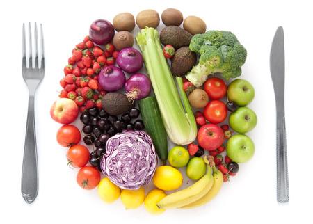 dieta sana: La dieta sana concepto de comida