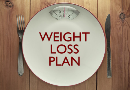 weight loss plan: Weight loss plan concept Stock Photo