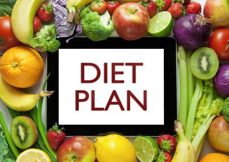 Plan de la dieta Foto de archivo - 45930574