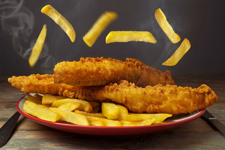 food fish: Fish and chips Stock Photo