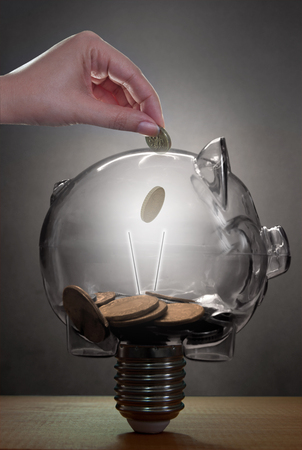 power of savings: Piggybank savings concept