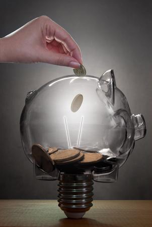household money: Piggybank savings concept