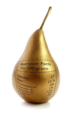 healthy snack: Gold pear superfood Stock Photo