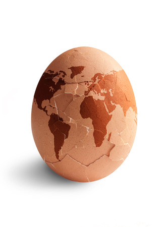 egg shape: Egg shape world cracking open